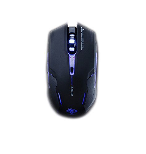 E-BLUE Xenics Pro Gaming Mouse AUROZA TYPE-G Omron Switch / AVAGO Gaming Chip / 4 Way DPI Switch / Optical Powerful Sensor / Pulsating lights / Heavy Plate Reinforcement by E-BLUE
