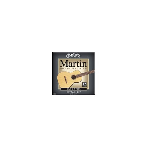 Martin M200 Silk & Steel 12-String Folk Guitar Strings, Extra - Folk Strings Guitar Steel