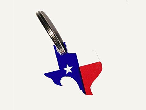 Texas Pop-a-Top Bottle Opener Key Ring