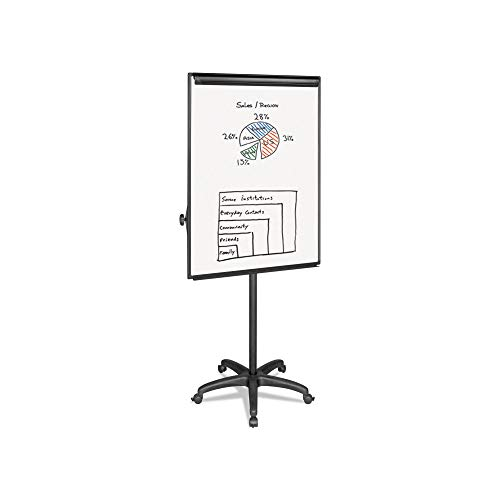 An Item of MasterVision - Silver Easy Clean Dry Erase Mobile Presentation Easel - 44