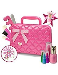 Princess Kids Makeup Kit for Girl | Washable Cosmetic Set with Case | Ideal Gift for Toddlers & Little (Girls Halloween Make Up)