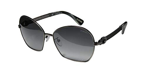 Lanvin Women's SLN024 0K20 Gunmetal Sunglasses Gradient Lens (Lanvin Shop)