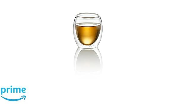 10 None Croci Vidrio de Capa Doble Taza 80 ml