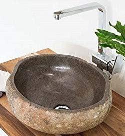 wohnfreuden Naturstein Waschbecken 30 cm oval Steinwaschbecken Stein G/äste WC