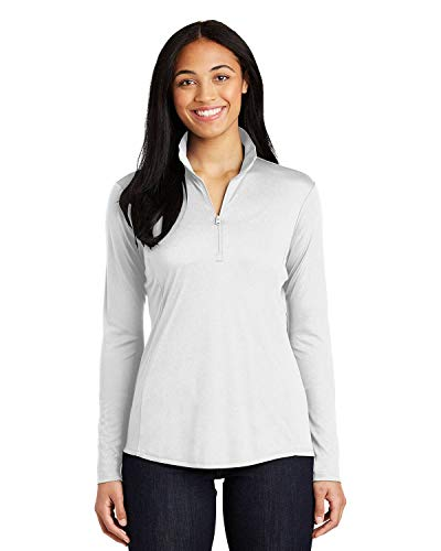 Sport-Tek 174 Ladies PosiCharge 174 Competitor 153 1/4-Zip Pullover. LST357 Small White