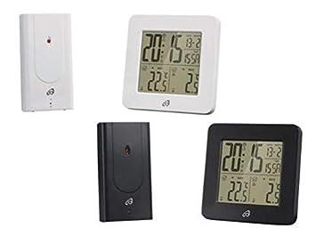 auriol Temperatura Estación con Radio-Controlled Sensor para Exterior Temperatura - Blanco