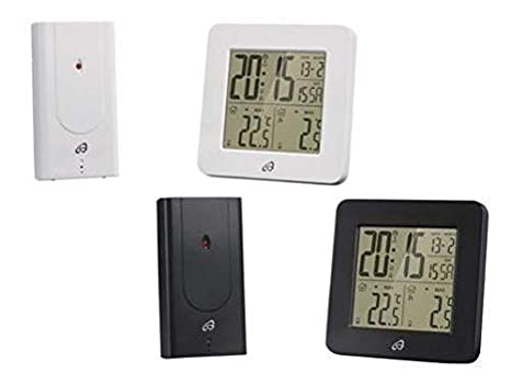 auriol Temperatura Estación con Radio-Controlled Sensor para Exterior Temperatura - Blanco: Amazon.es: Jardín