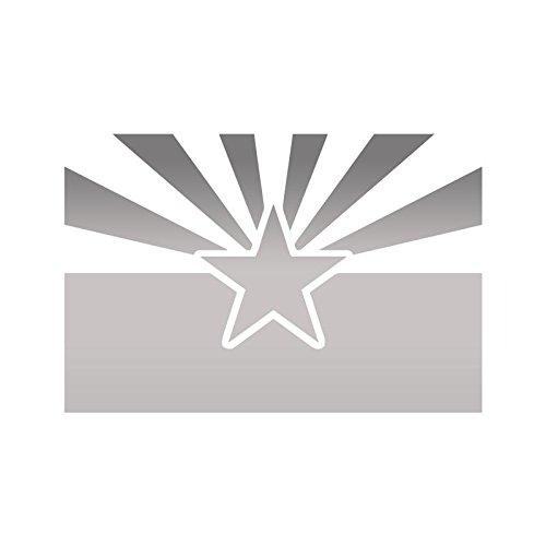 ANGDEST Flag Arizona State US (METALLIC SILVER) (set of 2) Premium Waterproof Vinyl Decal Stickers Laptop Phone Accessory Helmet Car Window Bumper Mug Tuber Cup Door Wall Decoration -