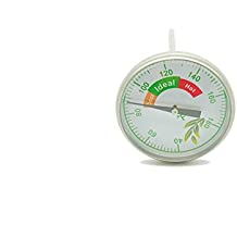 """LIQUIDATION SALE! EVERYTHING MUST GO! Stainless Steel Bimetal Thermometer for INDOOR Composting - 4.72"""" Temperature Probe with Instructional Pamphlet, Ideal for Compost bins, EASILY STORED"""