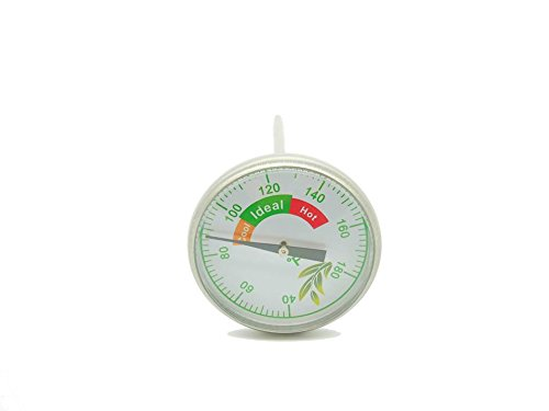Evergreen LIQUIDATION SALE! EVERYTHING MUST GO! Stainless Steel Bimetal Thermometer for INDOOR Composting - 4.72