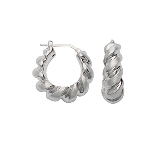 Twist Hoop Earrings Artform Designer Collection Sterling Silver Nontarnish