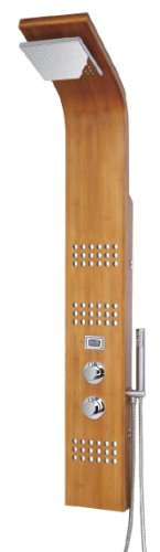 """Blue Ocean 61"""" SPW8311 Thermostatic Shower Panel with Rainfall Shower Head, Body Nozzles, and Handheld Shower Head Blue Ocean"""