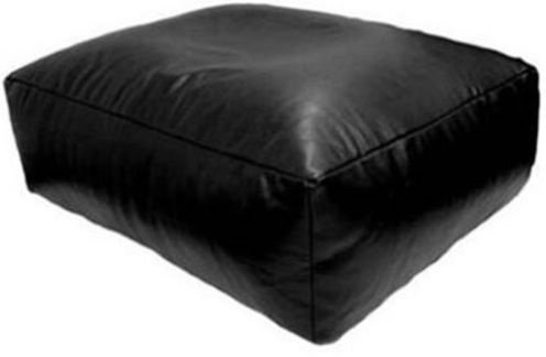Kaikoo Faux Leather Black Bean Bag Slab Bean Bag Slab Chair 65cm x 65cm