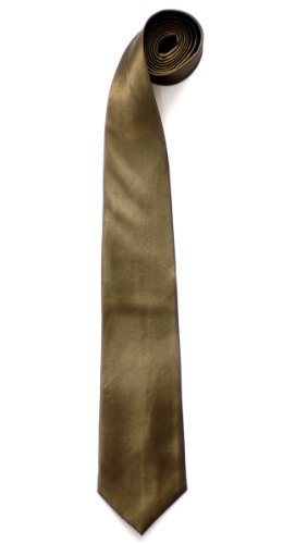 Retreez Plain Men's Tie - Army Green by Retreez