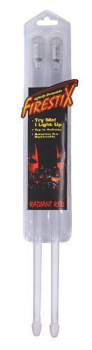 Trophy FX12RD Firestix Light-Up Drumsticks, Red