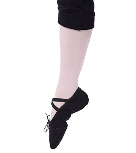 Bininbox Behagelig Skinn Ballett Sko Ballett Sko For Voksne Sorte