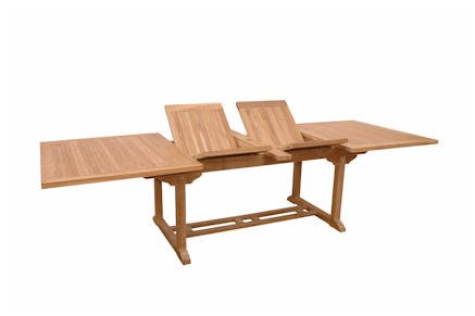 Valencia 117 Inch Rectangular Table + Double Extensions , Anderson Teak , Patio Tables, Tables - Extension Teak Patio Table