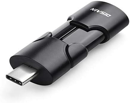 USB Flash Drive,DISAIN 128GB Dual Drive USB 3.0 Type-C 3.1 Gen 1 Devices, Thumb Drive Memory Stick for Computers (128GB, Black)
