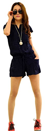 AvaCostume Womens Sleeve Drawstring Jumpsuit