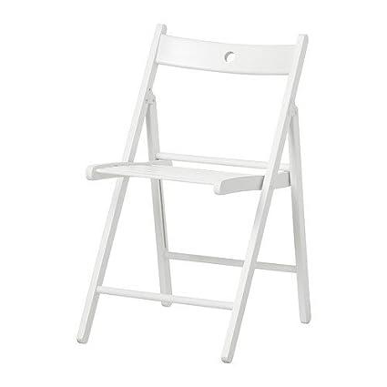 Sedie Pieghevoli Legno Ikea.Ikea Terje Sedia Pieghevole Colore Bianco Amazon It