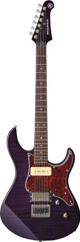 (Yamaha Pacifica PAC611HFM TP Solid-Body Electric Guitar, Translucent Purple)