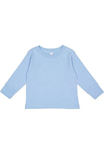 Rabbit Skins Toddler 100% Cotton Jersey Long Sleeve Tee (Navy, 4 Toddler)