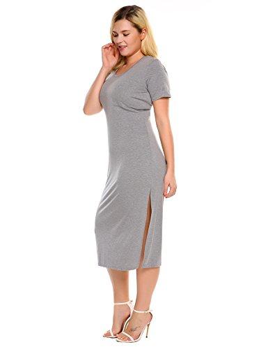 容赦ない取り消す肥沃なZeagoo DRESS レディース US サイズ: 24w カラー: グレー