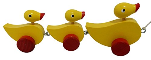 (Duck Family Wooden Pull Along Toy)