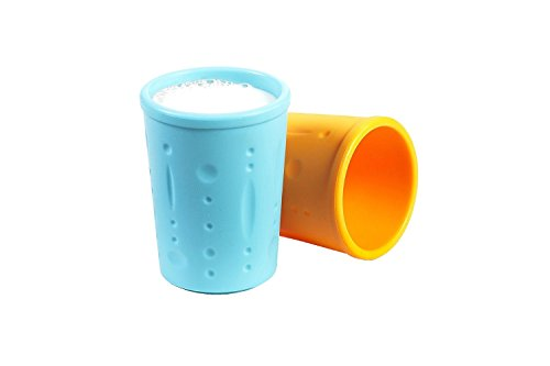 Kinderville® Silicone Cups - 2 pack - 100% SILICONE Cups for Kids, Children, Babies, Toddlers, BPA Free, CUP SET (Dishwasher Safe)