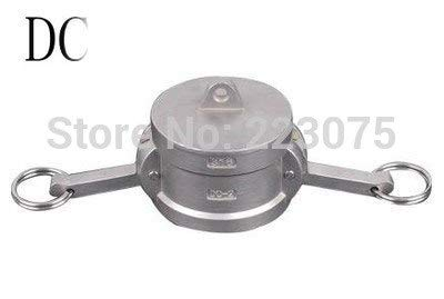 Maslin SS304 Stainless Steel CAM Lock CAMLOCK&Groove Type DC Coupler Dust Cap 1/2''