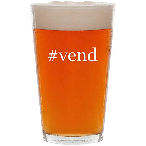 #vend - 16oz Hashtag All Purpose Pint Beer Glass, used for sale  Delivered anywhere in USA