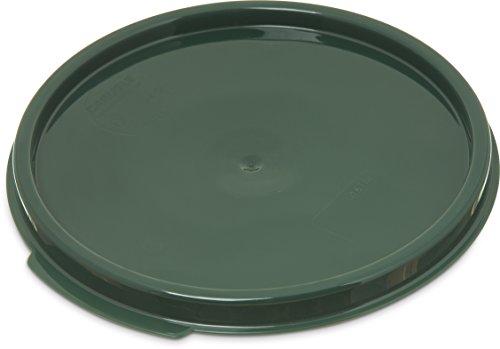 (Carlisle 1077108 Round Container Lid, Polypropylene, Green, 2-4 Quart )