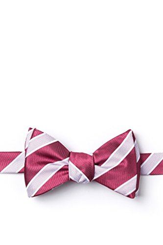 1adaf0d18e66 Jefferson Stripe Coral Microfiber Butterfly Bow Tie at Amazon Men's  Clothing store: