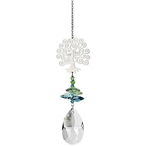 Austrian Tree Crystal Christmas (Woodstock Crystal Fantasy Suncatcher, Tree of Life)