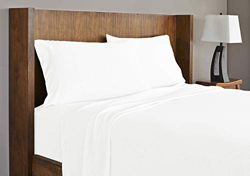 Royale Linens Soft Tees Cotton Modal Jersey Knit Sheet Set King White