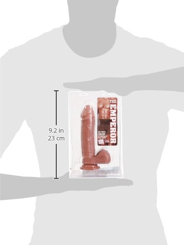 CalExotics The Emperors Better Than Real Dildo with Suction Cup and Lubricant, Brown, 8 Inches