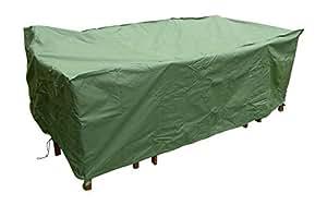 Weather proof Heavy Duty extra large 8–10plazas Rectangular de patio cubierta–resistente al agua–muebles de jardín cubre–5años de garantía