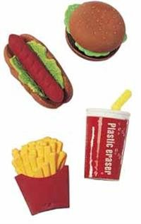 Take-Apart' Fast Food Erasers (48/PKG)