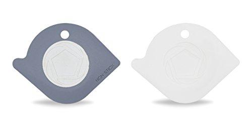 Couples Circle - Full Circle Power Couple-Pan Scraper, Grey, White