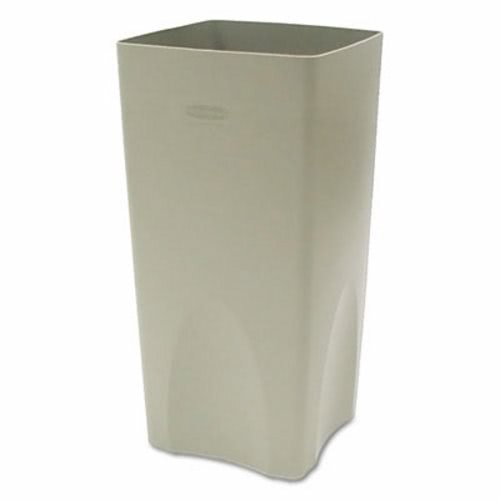 Rubbermaid Commercial 356300BGCT Plaza Waste Container Rigid Liner, Square, Plastic, 19gal, Beige (Case of 4)
