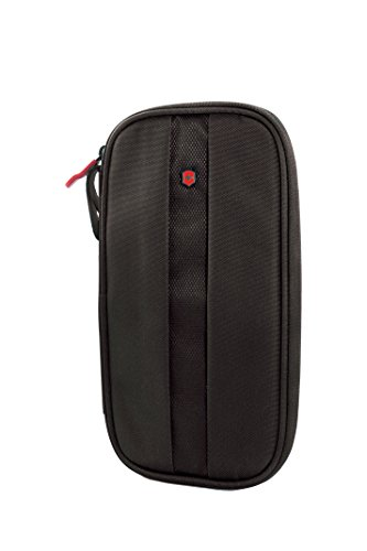 Victorinox Travel Organizer with RFID Protection, Black/Red Logo, One Size
