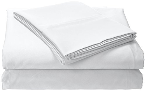 Oversized Flat Sheet - Tribeca Living Solid Deep Pocket Sheet Set with Oversize Flat, King, White