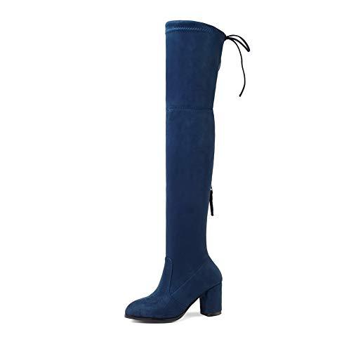 Azul Cuña Con Ezr00516 Sandalias Mujer Aimint CAqw08Xn