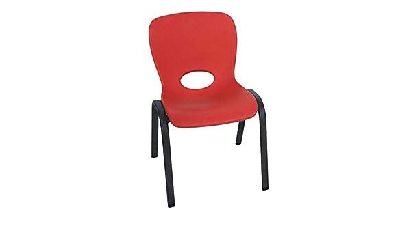 Lifetime LFT Kid Chair Silla Infantil Apilable Rojo