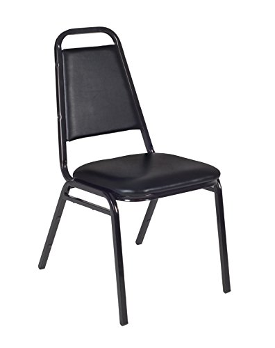 Regency Restaurant Stack Chair, Black