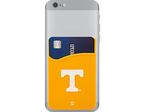 (Tennessee Volunteers Adhesive Silicone Cell Phone Wallet/Card Holder for iPhone, Android, Samsung Galaxy, Most Smartphones)