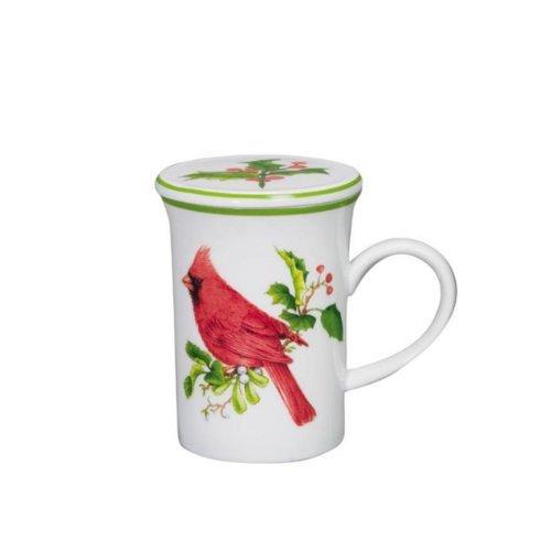 Andrea By Sadek Holiday Cardinal Covered Mug Cup