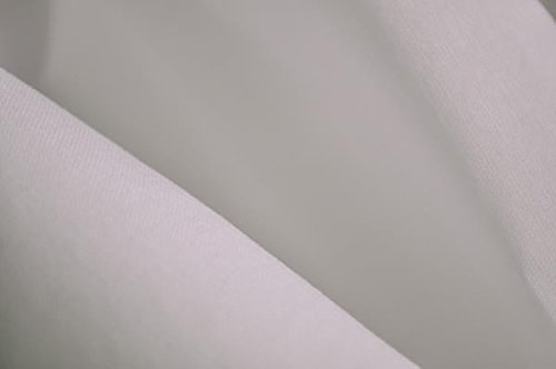 (Organic Cotton Percale Fabric - White - By the Yard)