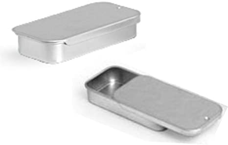Small Metal Tin Storage Box Seeds Nuts Bolts Container Pill Keys Top TxThS
