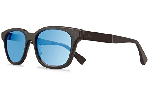 Revo Drake RE 1007J 01 GBL Polarized Cateye Sunglasses, Black Leather/Blue Water, 53 - With Glasses Drake